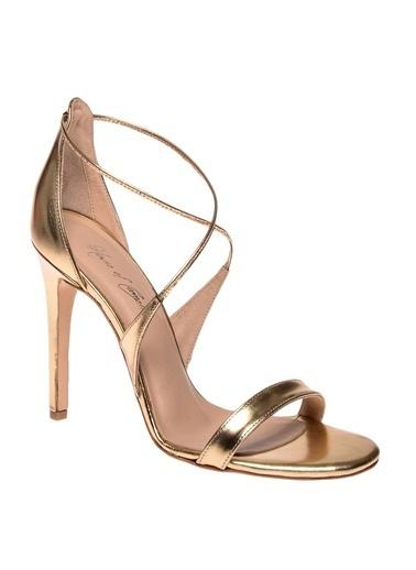 House Of Camellia Ayakkabı Altın